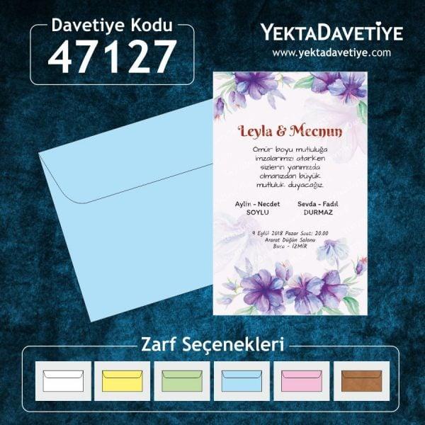 Yekta 47127 davetiye modeli
